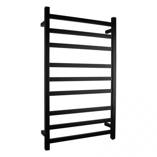 Matte Black 9 Bar Heated Towel Rail