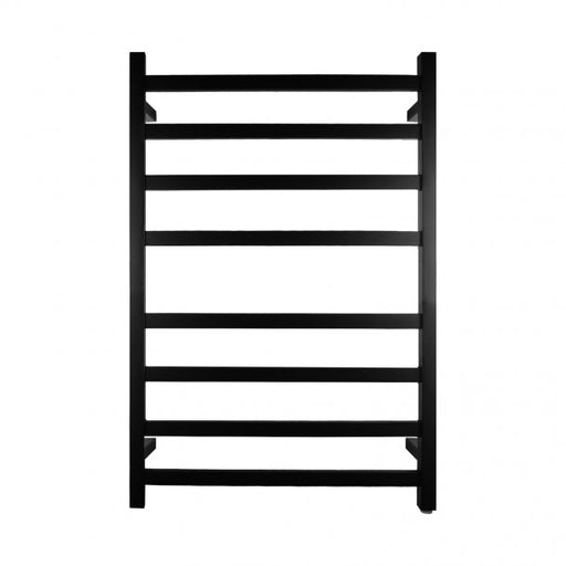 Matte Black 8 Bar Heated Towel Rail
