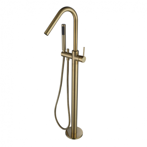 Freestanding Bath Mixer PVD Brushed Bronze