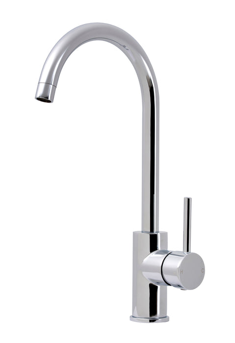 Chrome Gooseneck Sink Mixer