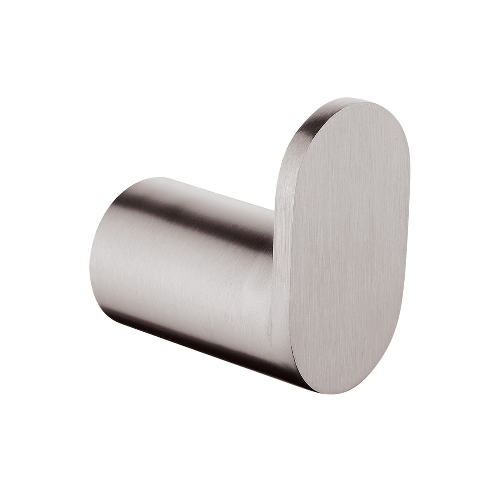 Esperia Brushed Nickel Round Robe Hook