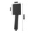 Esperia Square Matter Black Handheld Spray Head Norico