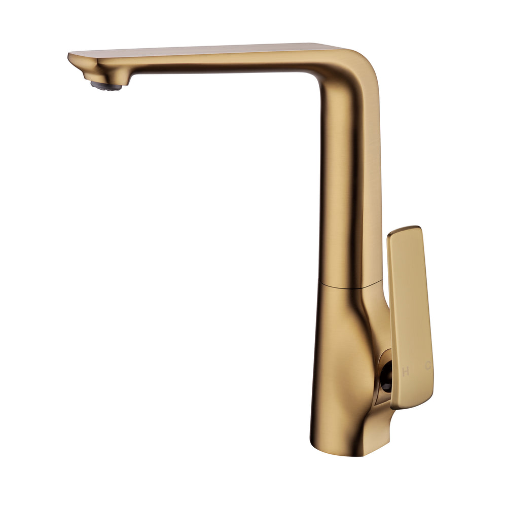 Esperia Brushed Yellow Gold Kitchen Mixer