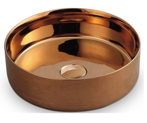 Rose Gold Round Basin