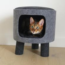 Rosewood Catwalk Collection Charcoal Felt Stool