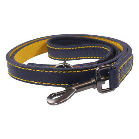 Rosewood & Joules Navy Leather Dog Lead