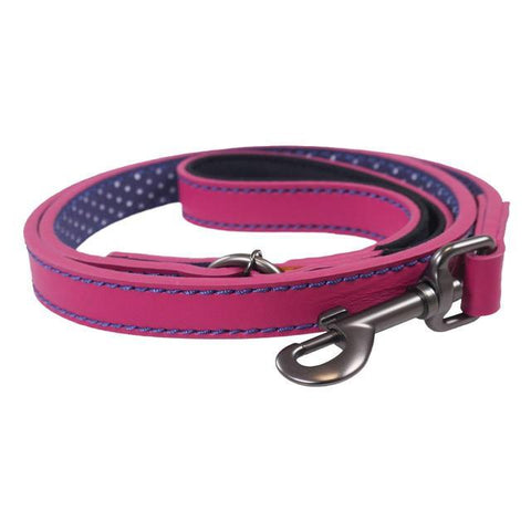Rosewood & Joules Pink Leather Dog Lead
