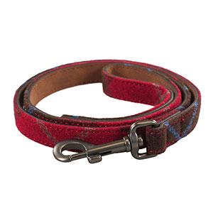 Rosewood & Joules Heritage Tweed Leather Dog Lead