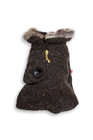 Dog's Life - Winter Shawl Coat - Black