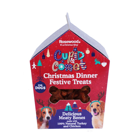 Rosewood Christmas Dinner Treats Gift For Dogs 100g