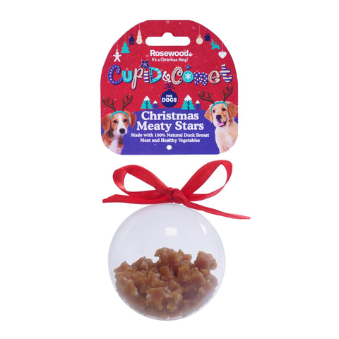 Rosewood Christmas Meaty Star Treats Bauble Gift For Dogs (80gm)