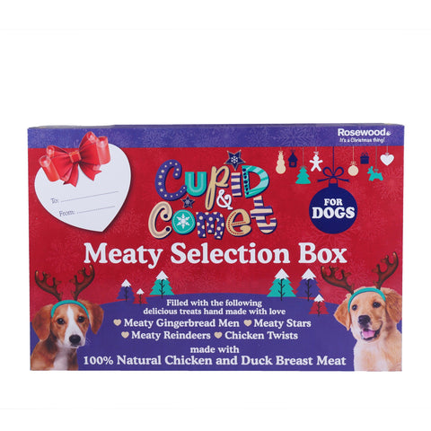 Rosewood Christmas Meaty Selection Gift Box For Dogs 175g