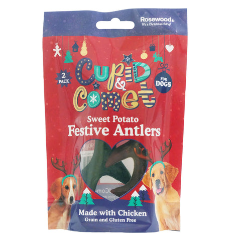Rosewood Sweet Potato & Chicken Festive Antlers 2pc