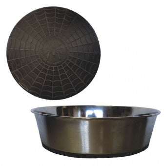 Bowl, S/Steel Heavy with Black Rubber Base