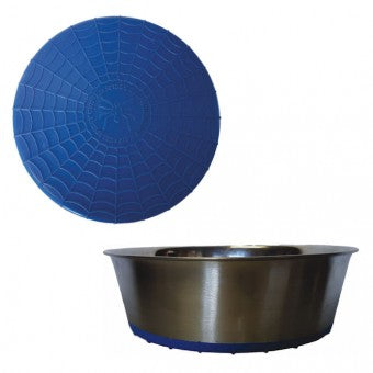 Bowl, S/Steel Heavy with Blue Rubber Base