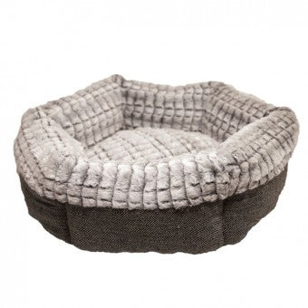 Bed, 40 Winks Tweed & Plush, Round