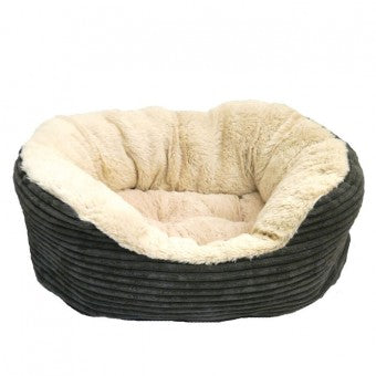 Bed, 40 Winks Jumbo Cord/Plush Ova