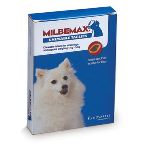 Milbemax Chew Tablet for 1 – 5 kg Dogs