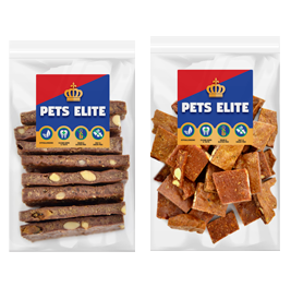 Pets Elite Peanut Butter Brittle Bites Dog Treat - 230g