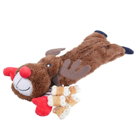 Rosewood Christmas Reindeer Dog Toy