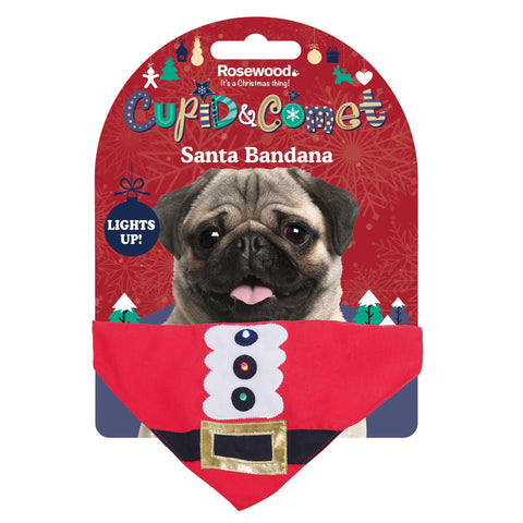 Rosewood Light Up Santa Bandana