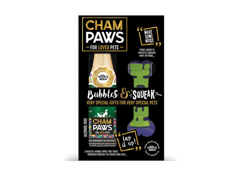Rosewood Champaws Gift Pack with Squeak Toy