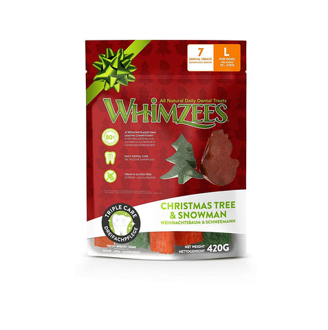 Whimzees Holiday Variety Bag Large 7pc Assorted