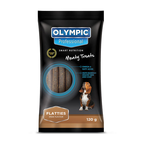 Olympic Professional Flatties Dog Treats 120g
