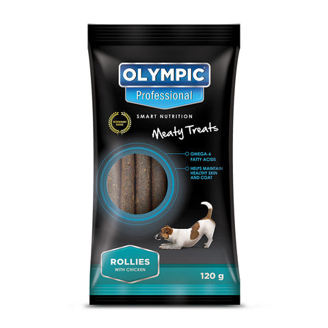 Olympic Professional Rollies Dog Treats 120g
