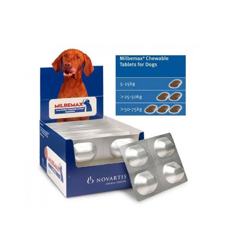 Milbemax Chewable Deworming Tablets for Dogs over 5 kg