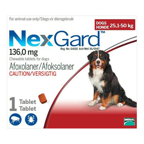 NexGard Extra Large Dog 25-50kg Chewable Tick & Flea Tablet