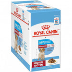 Royal Canin Medium Puppy Wet Food Pouches - 10x140g