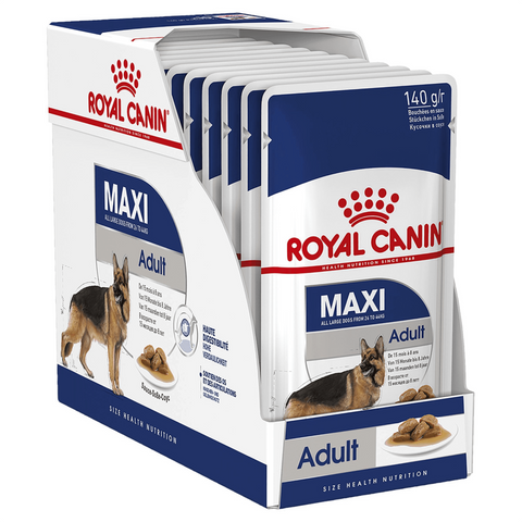 Royal Canin Maxi Adult Wet Food Pouches - 10x140g