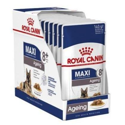 Royal Canin Maxi Adult Ageing 8+ Wet Food Pouches - 10x140g
