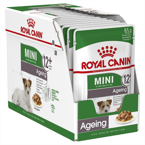 Royal Canin Mini Adult Ageing 12+ Wet Food Pouches -12X85g