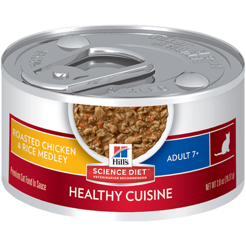Hill's Active Longevity Roasted Chicken & Rice Medley 7+ Canned Cat Food