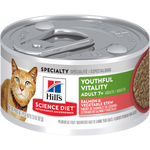 Hill's Science Plan Youthful Vitality Wet Adult Cat Food - Salmon & Vegetable