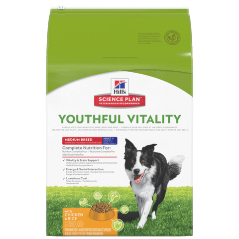 Hill's Science Plan Youthful Vitality Medium Adult Dog Food