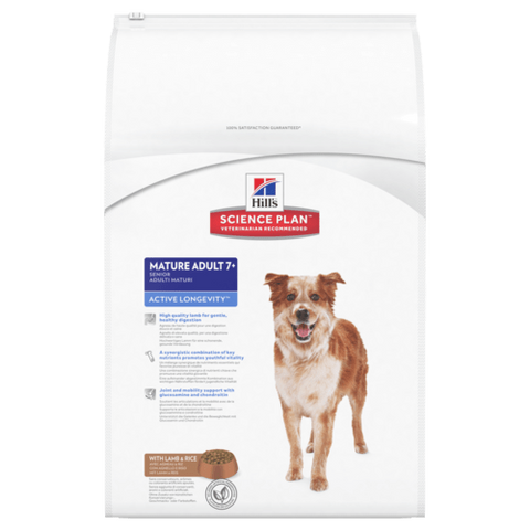 Hill's Active Longevity Lamb & Rice Mature Adult Medium 7+ Dog Food