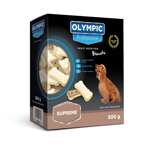 Olympic Professional Supreme Creamy Yoghurt Dog Biscuits 500g