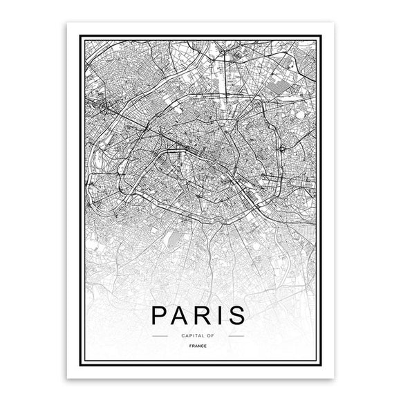 Paris - Cartographie décorative