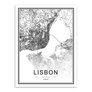 Lisbonne - Cartographie décorative