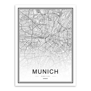 Munich - Cartographie décorative
