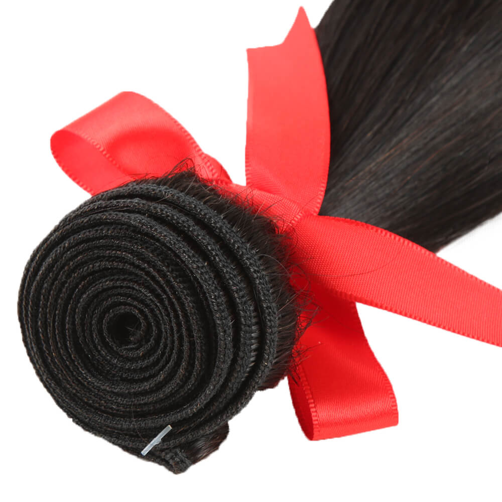 natural straight human hair bundle weft