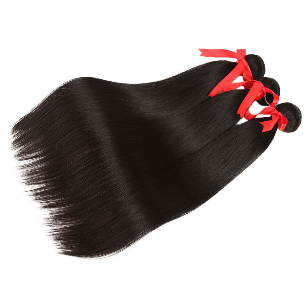 natural straight human hair 3 bundles