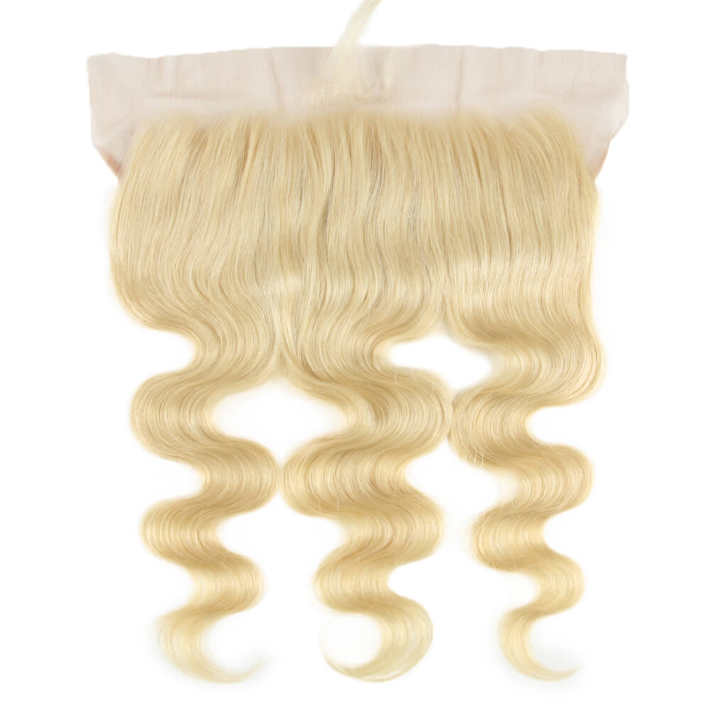 human hair body wave blonde 13*4 lace frontal - front