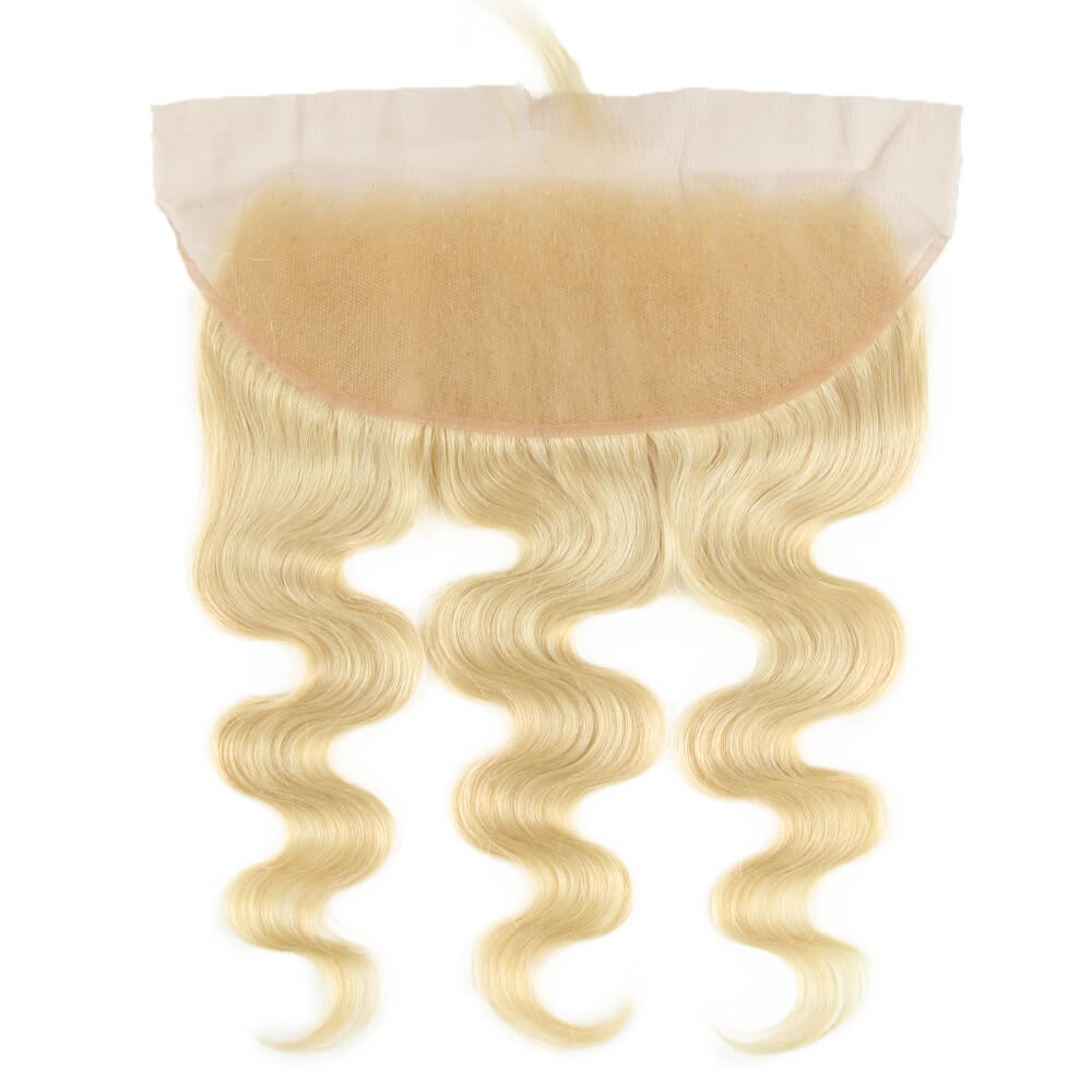 human hair body wave blonde 13*4 lace frontal back