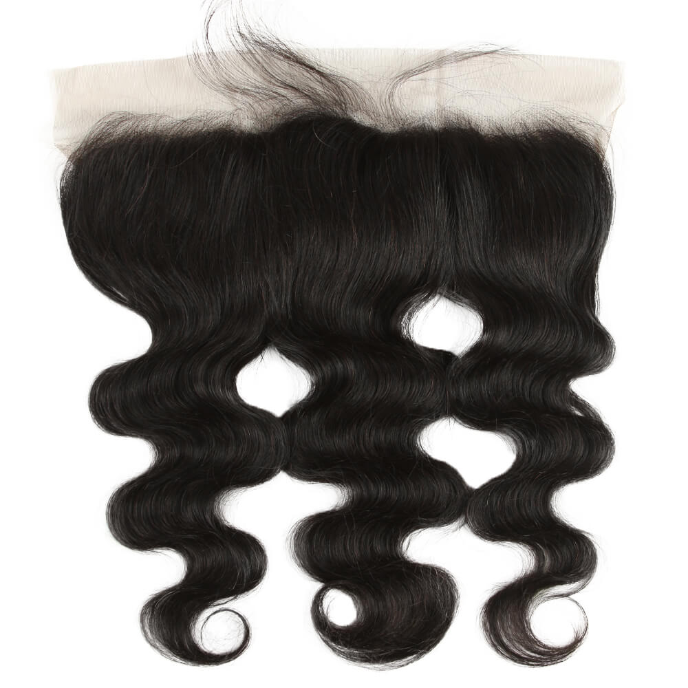 natural human hair body wave 13*4 lace frontal-front