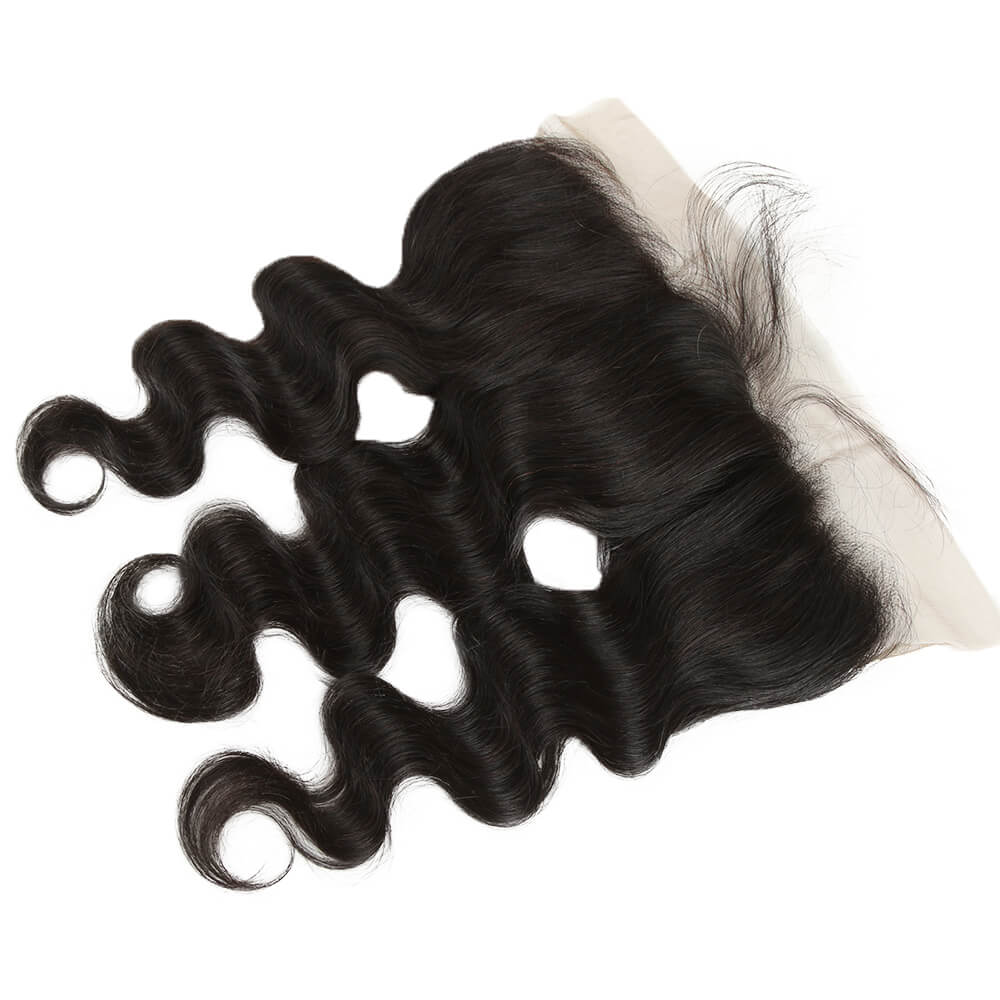 natural human hair body wave 13*4 lace frontal-side