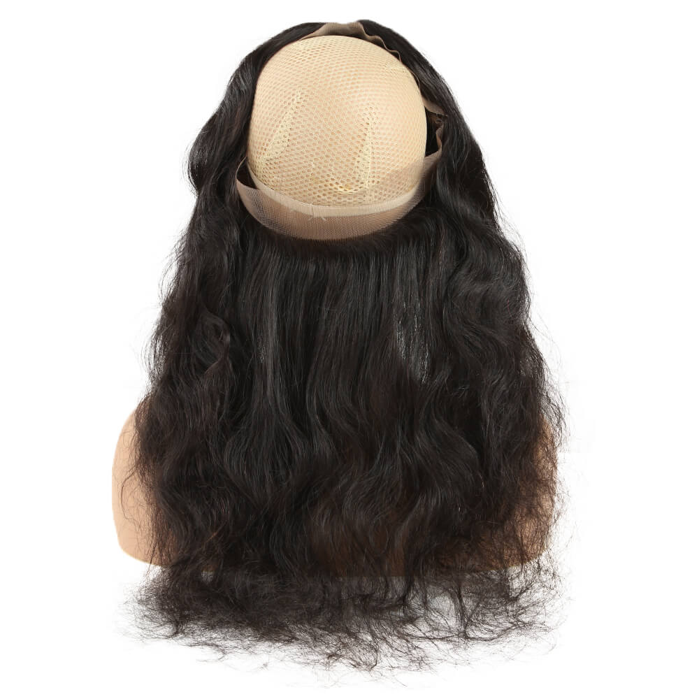 human hair body wave 360 lace forntal back lace